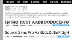 Font Squirrel 為平面設計師精心挑選 27 款免費商用字型下載