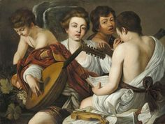 Michelangelo Caravaggio, The Music Party on ArtStack #caravaggio #art