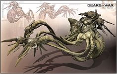 Concept Art Tutorial: Gears of War Creature Design. Gears Of War, Alien Creatures, Fantasy Creatures, James Hawkins, Concept Art Tutorial, Beast, Futuristic Art, Creature Concept, Fauna