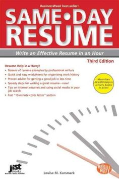 Same-day Resume Third Edition (same-day Resume: Write An Effective Resume In An Hour) Salon Business Plan, Business Plan Outline, Sample Business Plan, Sample Resume, Essay Competition, Effective Resume, Business Continuity Planning, Overcoming Adversity, Resume Help