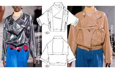 "Carlin  Ready-to-wear A/H 2017-18 - Trends  Between retro chic and futuristic innovation, the ""shirting-jacket"" , key-item of this influence is reinvented, using the street and city codes for a light outdoor /indoor look. This double functionality is galvanised by the use of fluid lamé bases or supple glazed shiny leather."