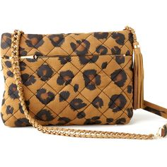 Rebecca Taylor Martine Leopard Shoulder Bag ❤ liked on Polyvore