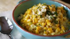Blogger Cheri Liefeld of Adventures in the Kitchen shares a new take on creamed corn. Spice up the classic cream corn with a Mexican twist.