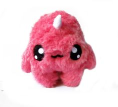 Fluse Kawaii Plush Monster Unicorn strawberry pink by Fluse123, €22.00