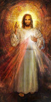 Divine Mercy Jesus, Divine Mercy Image, Devine Mercy, Jesus Mercy, Pictures Of Jesus Christ, Religious Pictures, Jesus Art, God Jesus, Catholic Art