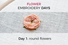 Let's start with the first part of this series: the round flower. What is the round flower? It's created by spiraling the thread around a center point. There are several ways to do so, but all have in common, that they become either perfectly round or oval. The woven/whipped spider wheel This method works great with large and smaller circles. Really tiny ones are not possible with this stitch. First, you determine the size of the flower you want to make because this stitch can't become a...