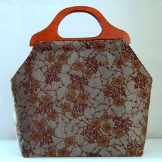 Botanical Trellis Large Craft Project Tote/ by tanneicasey on Etsy