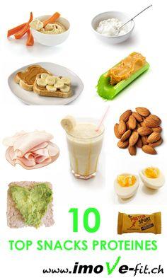 10 idées de snacks protéinés