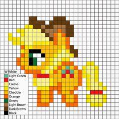 Applejack Perler Pattern - Perler Mania