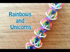EASY Rainbow Loom Pattern: Rainbows and Unicorns No Loom - YouTube Beginners rainbow loom hook only pattern. great for learning how to use the hook for crocheting by rowena