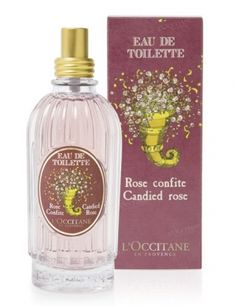 Rose Confite (Candied Rose) EDT - This is by far my FAVORITE limited edition L'Occitane fragrance release! It leaves a sweet cotton candy like trail on me with a soft touch of rose petals, but it's not too cloying.