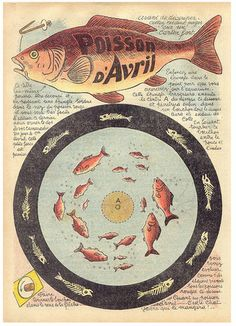 Ephemera, French, Poisson d'Avril!