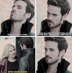 "Killian, Emma, and Leroy 4x01 ""A Tale of Two Sisters"""
