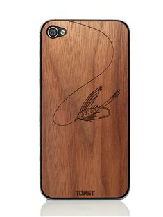 Fly Fishing iPhone Cover - Walnut