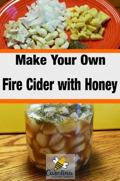 Looking for a way to boost your immune system. Herbal remedies like Fire Cider have been used for many years to promote health. Make your own fire cider with honey. Honey Recipes, Tea Recipes, Healthy Recipes, Cider Making, Honey Benefits, Lemon Drink, Herbal Remedies, Health Remedies, Recipe From Scratch