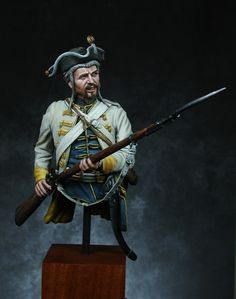 Hungarian Infantry Reginemt Erzherog Ferdinand 1762. A 1/9th Scale Bust sculpted by Pavol Ovecka  for United Empire Miniatures & painted by Ernest