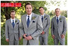 photo of groomsmen in grey suits