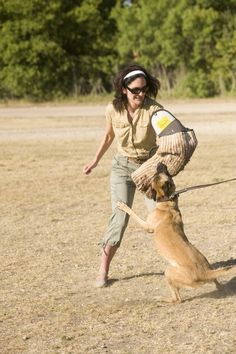 women dog handlers   had no idea when I was standing around Lackland's training area ...