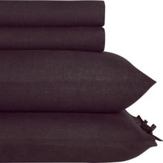 Crate-Barrel-CB2-French-Belgian-Linen-QUEEN-Sheet-Set-Charcoal-New-Cloth-Pkg