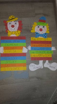 Klauni - slovní druhy, pády Idea to build sentences into paras Sentences, Thing 1, Classroom, Facebook, Math, My Love, School, Literature, Carnival