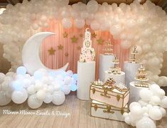 When you wish upon a 💫 Event design/stylin Baby Shower Balloons, Baby Shower Themes, Baby Shower Decorations, Cloud Baby Shower Theme, Shower Ideas, 1st Birthday Party For Girls, Birthday Parties, Balloon Decorations, Birthday Decorations