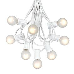 G30 String Lights with 125 Globe Bulbs - Indoor/Outdoor Commercial Use - Vintage Backyard Patio Lights - Outdoor String Lights - Globe Wedding Light String - Umbrella Light String - 100 Feet >>> Click here for more details @