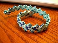 gum wrapper chain >> I made hundreds of feet of these things.