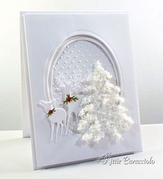 6a00e54ed958f3883301a3fae1b403970b-pi (636×700 by Kittie Caracciolo I absolutely LOVE this card -- I will be attempting my own version for Christmas 2014.  May even have to start making them tomorrow!!