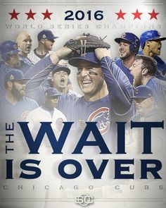 "SportsCenter on Twitter: ""THE CHICAGO CUBS ARE 2016 WORLD SERIES ..."