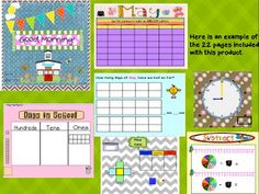 Smartboard Calendars from I Love 1st Grade