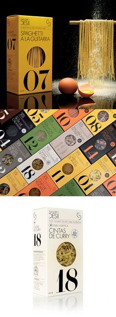Sandro Desii's Italian pasta by Lo Siento//Barcelona. // Repinned by www.lunik2.com #branding #packaging #design #creative #marketing