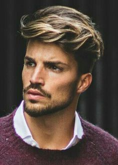 27 Hair Color for Men with Brown Skin Tone - Fashion Insider Men Hair Color Highlights, Brown Hair With Highlights, Colored Highlights, Hair Color Balayage, Men Balayage, Mens Hair Colour, Hair Color Shades, Hair Color Techniques, Different Hair Colors