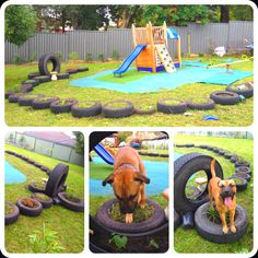Recycled backyard playground for when the kiddies come to visit
