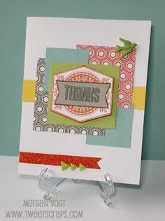 TweetScraps: August Stamp of the Month - Framed Paper Fundamentals Card