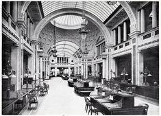 Inside the main hall of the Deutsche Bank