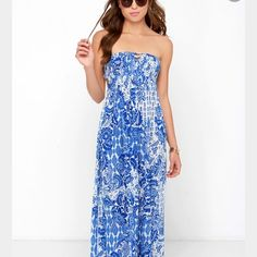 By land and sea maxi dress Size:S Size small, with a slight bit of wear on front straps. This is such a comfortable dress! Pictures upon request. Lulu's Dresses Maxi