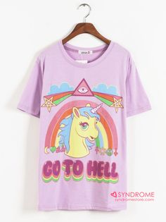 Unicorn Go to Hell T-shirt from SYNDROME [Korea & Japan Style] - $25.00 USD /// LuckyMelli.com