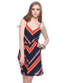 Chevron Stripes Dress - StyleSays