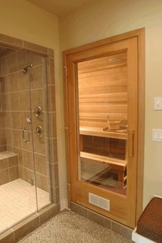 38 easy and cheap diy sauna design you can try at home by shannon w. Feist posted on july 20 2018 june 11 2019 he prospect of building a sauna in the home may initially sound daunting but in fact . Basement Sauna, Basement Bathroom, Basement Remodeling, Small Bathroom, Master Bathroom, Bathroom Ideas, Bath Ideas, Budget Bathroom, Bathroom Black