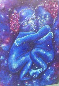 Twin Galaxies   Acrylic on Canvas