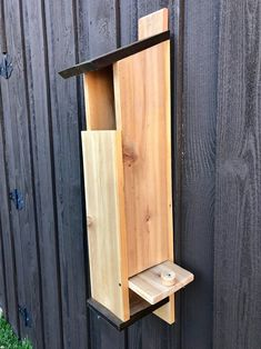 Looking to buy handmade birdhouse feeders online? Come and visit Incidental Treasures to see all of our birdhouses and other decor! Owl Nest Box, Owl Box, Owl Calls, Modern Birdhouses, Saw Whet Owl, Screech Owl, Nesting Boxes, Backyard Birds, Owl House