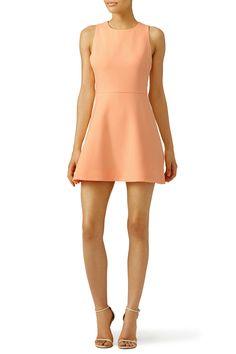 Pale orange fit and flare dress. Perfect for a summer engagement party!  Elizabeth and James Orange Georgia Dress