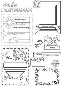 Társítsd a képet a Paint programmal, másold Word… Diy For Kids, Crafts For Kids, Grandmother's Day, Mother's Day Diy, Grandparents Day, Mother And Father, Christmas Love, Digital Stamps, Holidays And Events