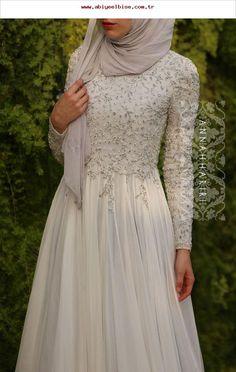 Hijab-Kleidung online - Cocktail dress new Hijab Prom Dress, Hijab Gown, Muslimah Wedding Dress, Hijab Outfit, Muslim Wedding Dresses, Wedding Hijab, Muslim Dress, Wedding Gowns, Bridesmaid Dresses