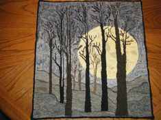 hand hooked rug by Theresa Horman