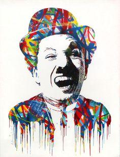 Charlie by Mr Brainwash Editioned artwork Bob Marley Kunst, Bob Marley Art, Charlie Chaplin, Mr Brainwash, Graphite Art, Sidewalk Chalk Art, Funky Art, Selling Art Online, Street Art Graffiti
