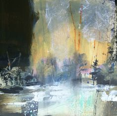 Golden Passage-abstract landscape by Joan Fullerton