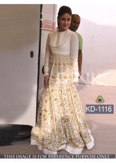 Bollywood Replica - Kareena Kapoor Designer White Gown  - KD-1116