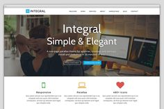 Integral | One Page Business Theme ~ WordPress Business Themes on Creative Market