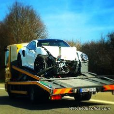 Porsche 911 crashed in Germany